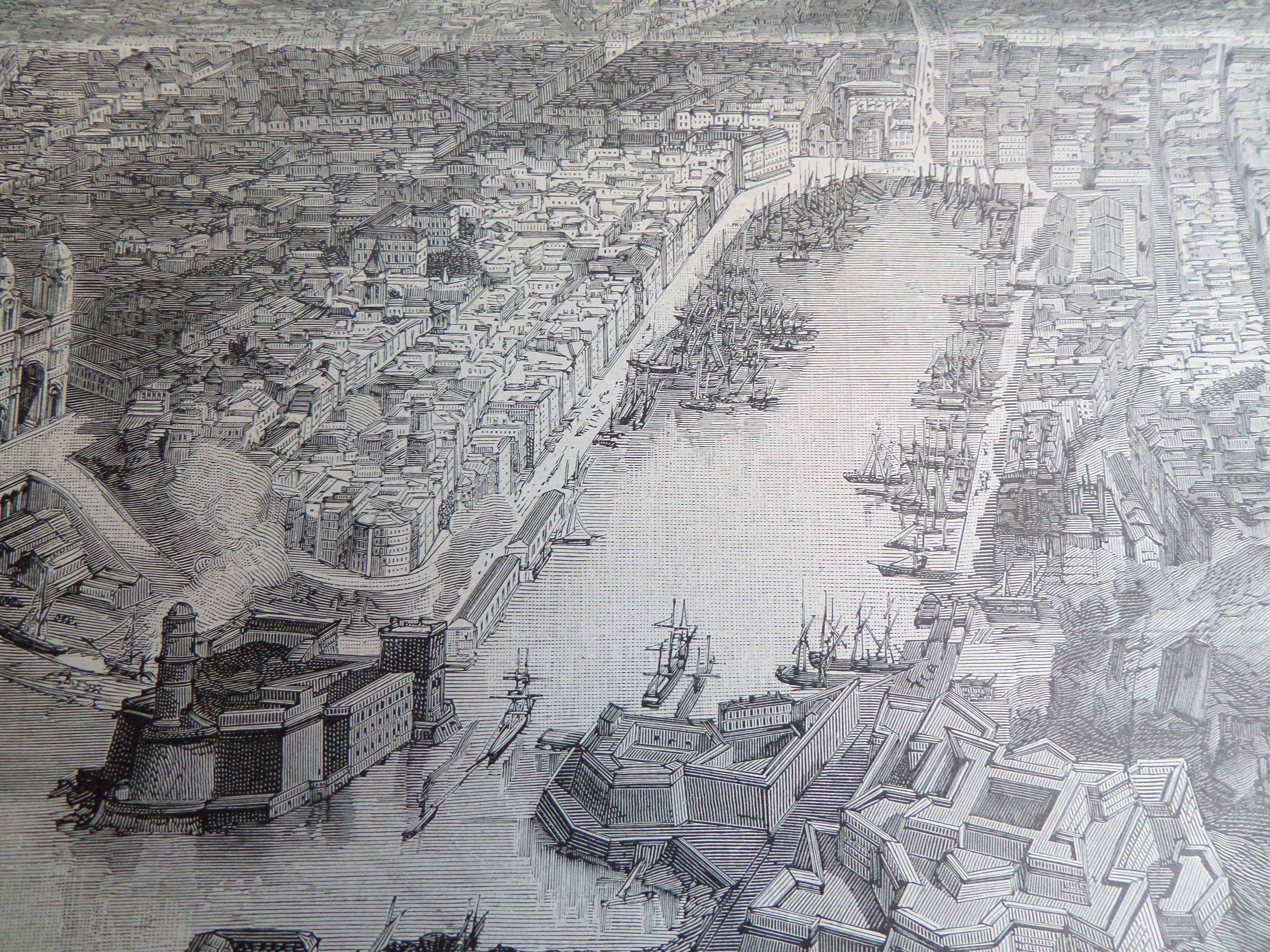 Un panoramique de marseille dans le journal illustr e de 1890 un monde de p - Le journal de marseille ...