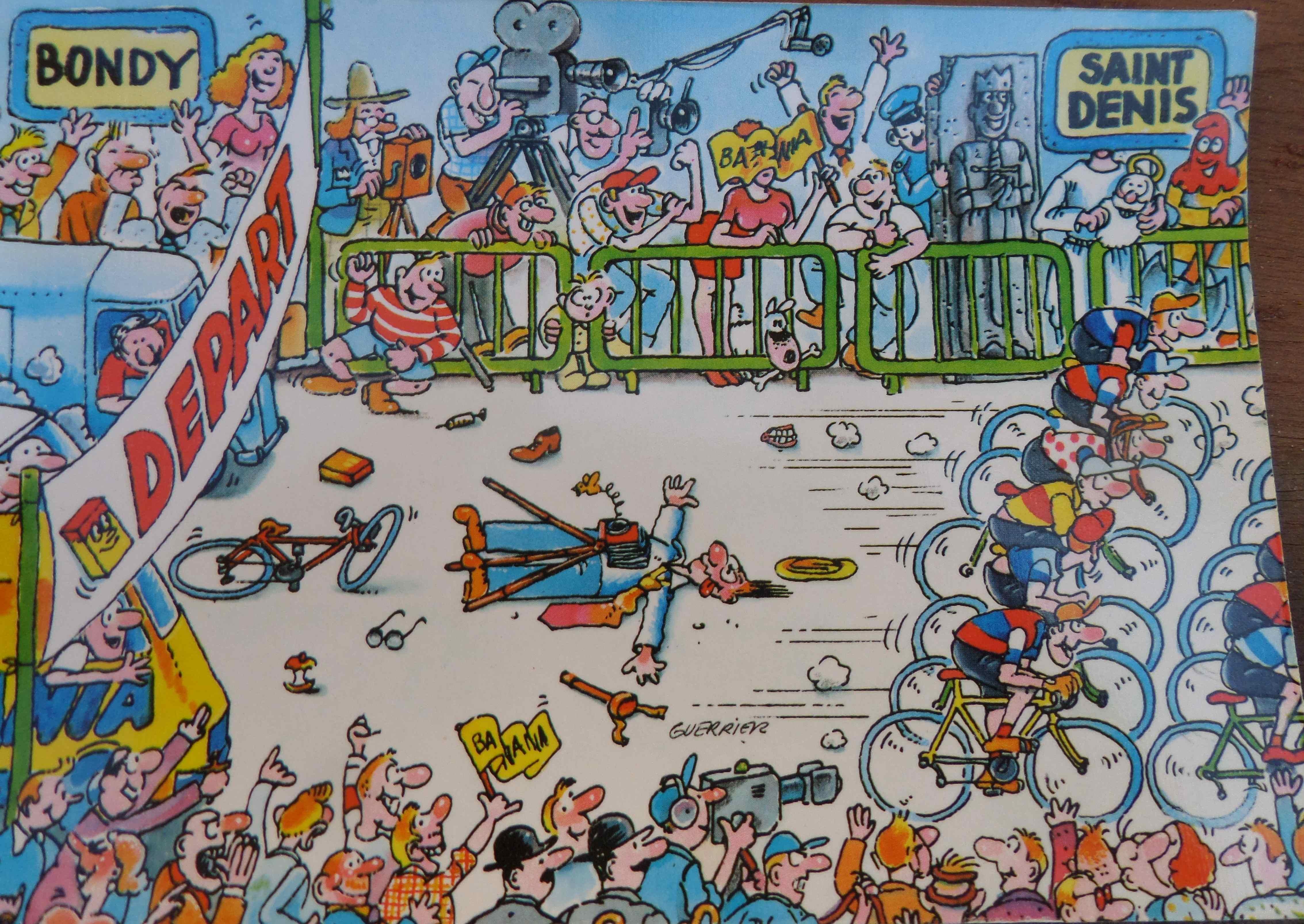 Cyclisme le tour 1984 vu par banania un monde de papiers - Dessin cycliste humoristique ...