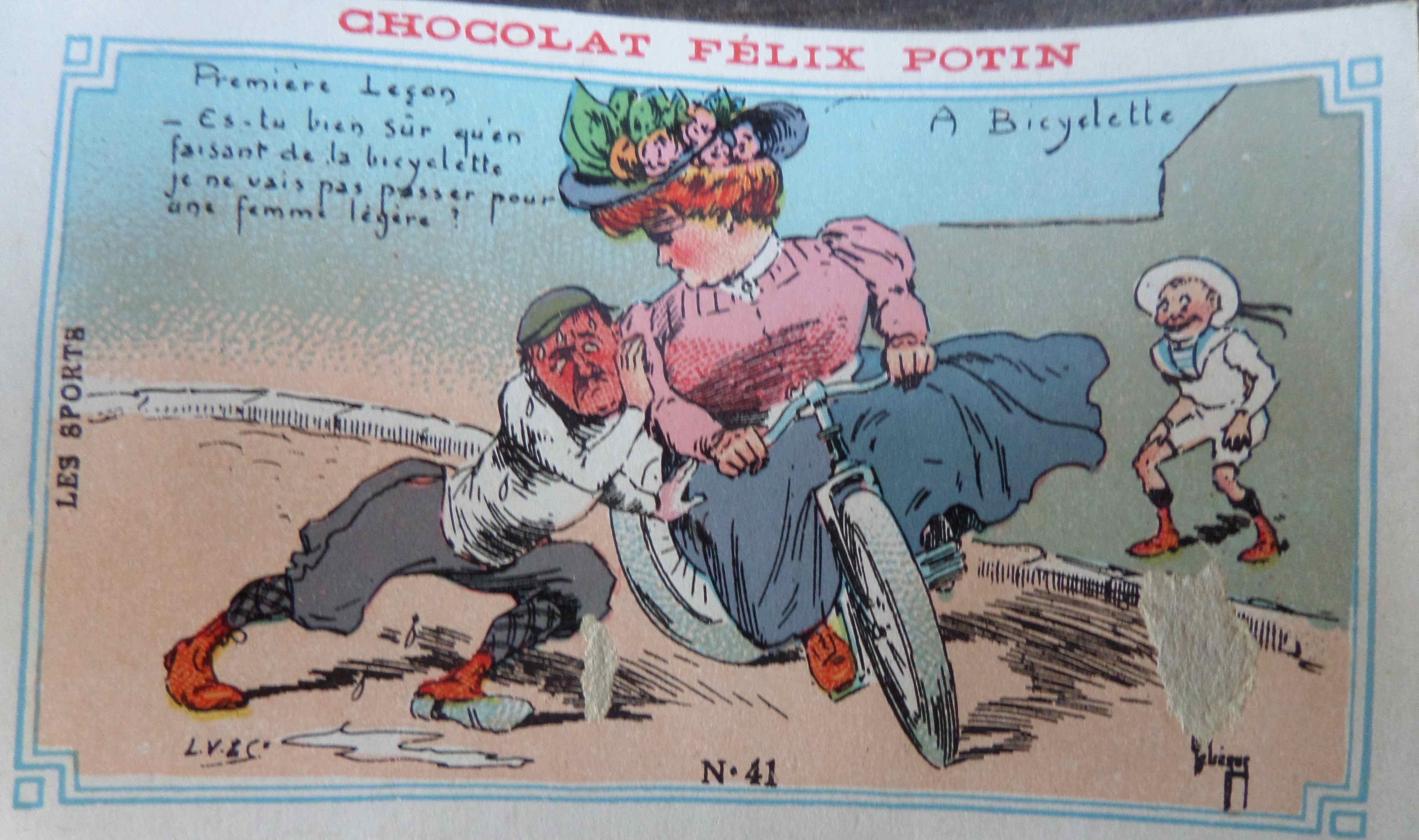 Bicyclette et rugby des images humoristiques f lix potin un monde de papiers - Dessin cycliste humoristique ...
