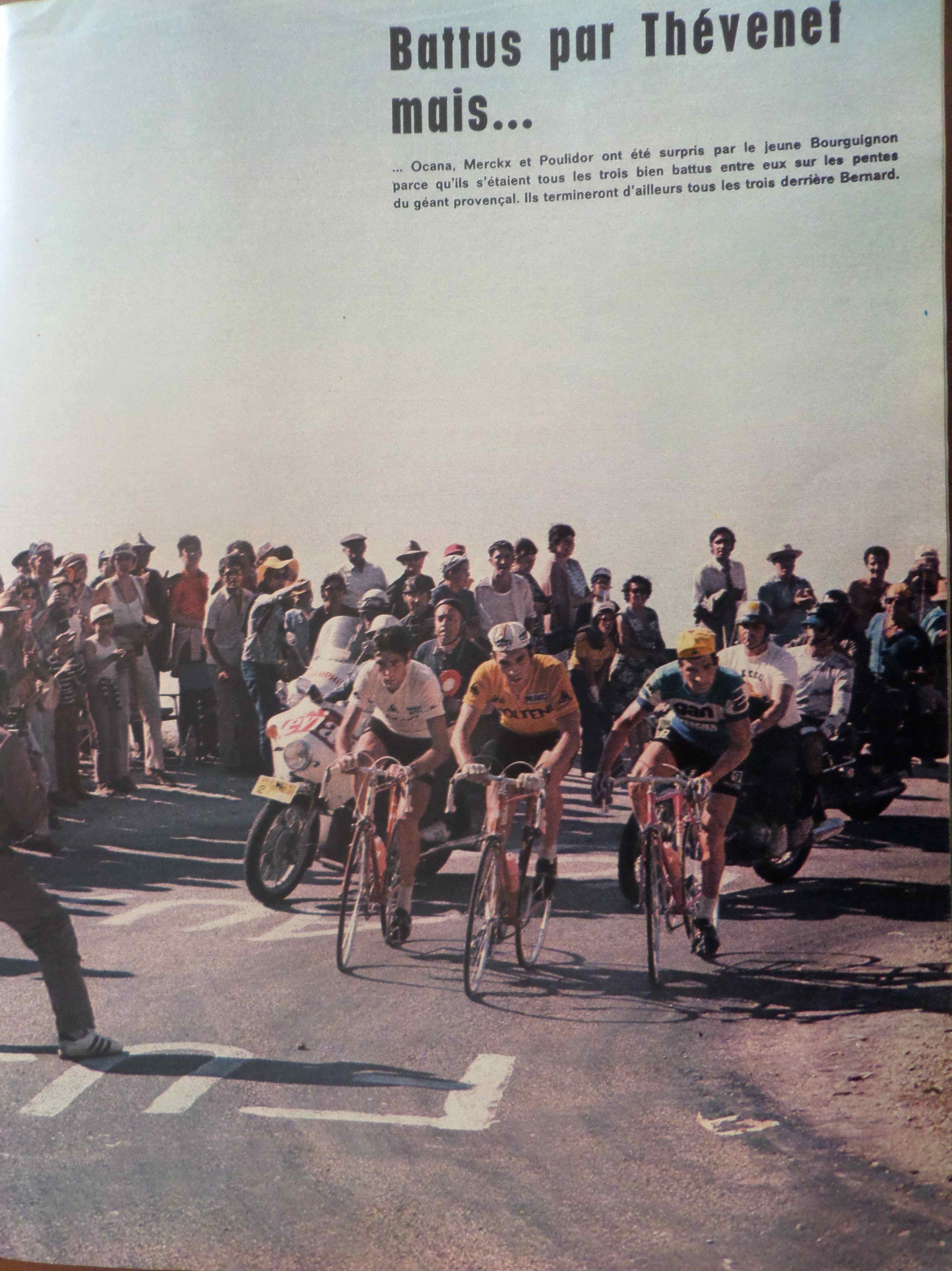 La saga du tour de france au ventoux 1972 bernard for Le miroir du cyclisme