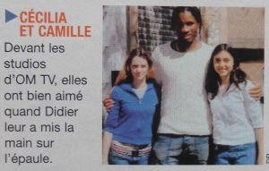 LA BRÈVE DANS L'EQUIPE MAGAZINE DU 30/10/2004