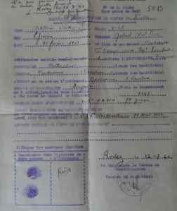 CERTIFICAT DE DÉMOBILISATION DU CANTON DE RODEZ