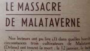 LE MASSACRE DE MALATAVERNE