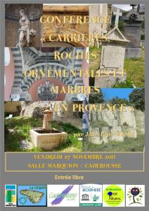 conférence affiche marbres carrieres
