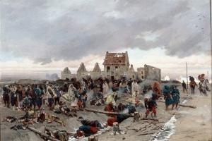 Bivouac_après_le_combat_du_Bourget,_21_décembre_1870